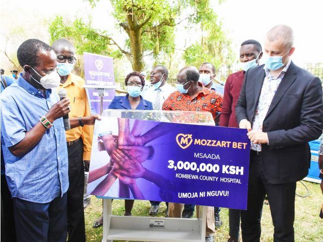 Mozzart donates equipment worth ksh 3 million to Kombewa Sub County Hospital