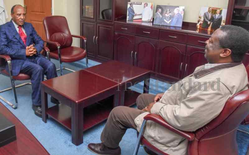 Mudavadi ends Mt Kenya tour, talks tax cuts