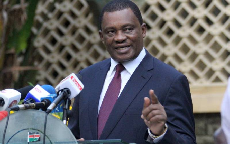 Muturi dumps Jubilee, says he'll run for president on new party