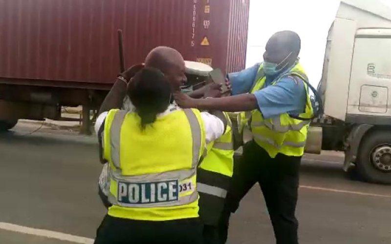 Nakuru traffic officers on the spot over motorist assault