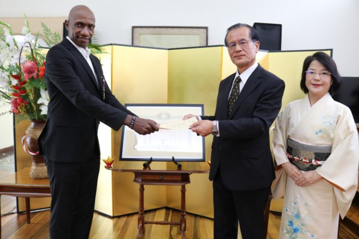 Japan confers one of its highest honours upon Wakiihuri to acknowledge his contribution to sports