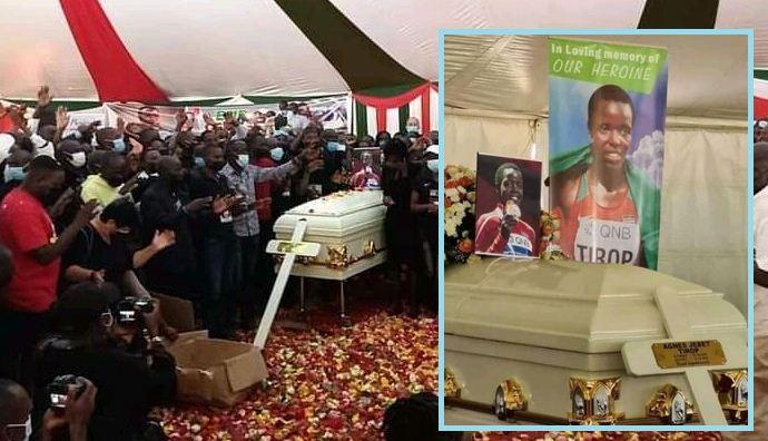PHOTOS: Burial of athlete Agnes Tirop underway in Nandi