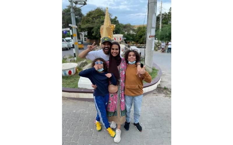Popular family vlogger Khalid Al Ameri in Kenya