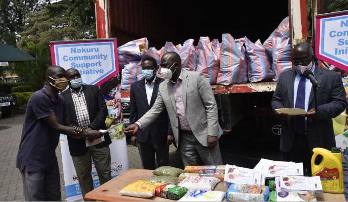 Private school teachers get food aid