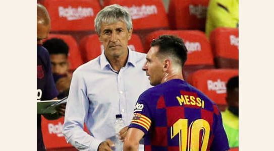 Quique Setien: I don't know whether Barcelona will sack me