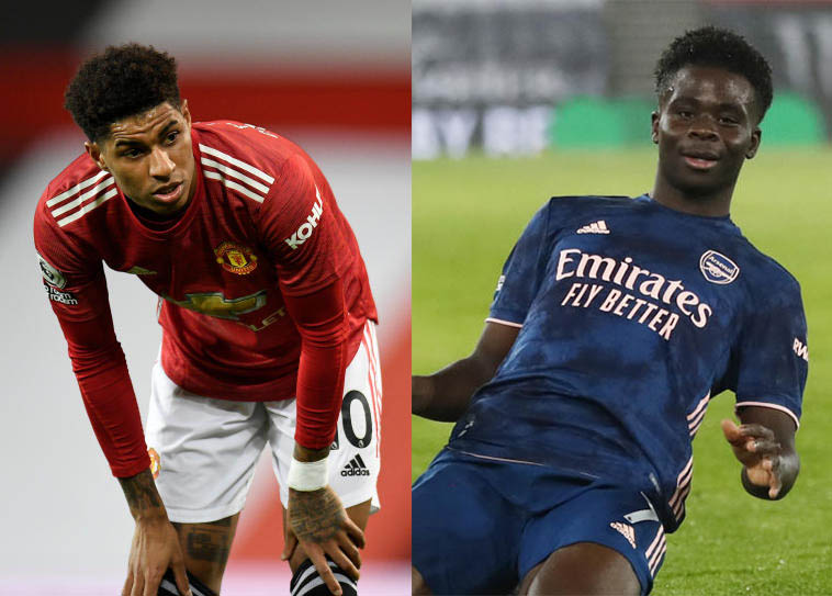 Rashford, Saka pull out of England squad with injuries
