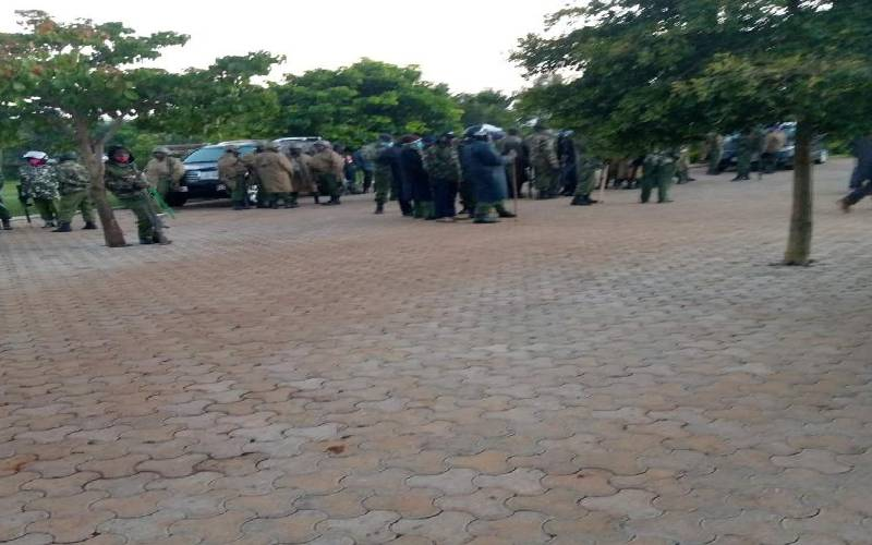 Police at MP Oscar Sudi`s home