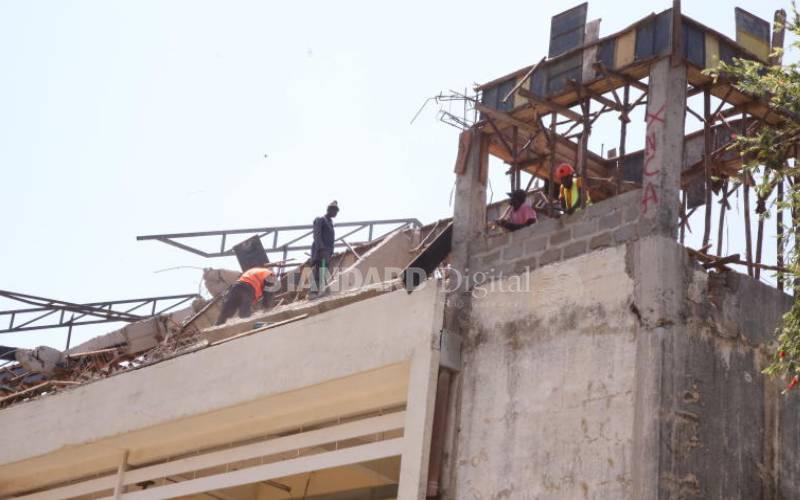 Sh26m Jaramogi hospital ward under construction collapses