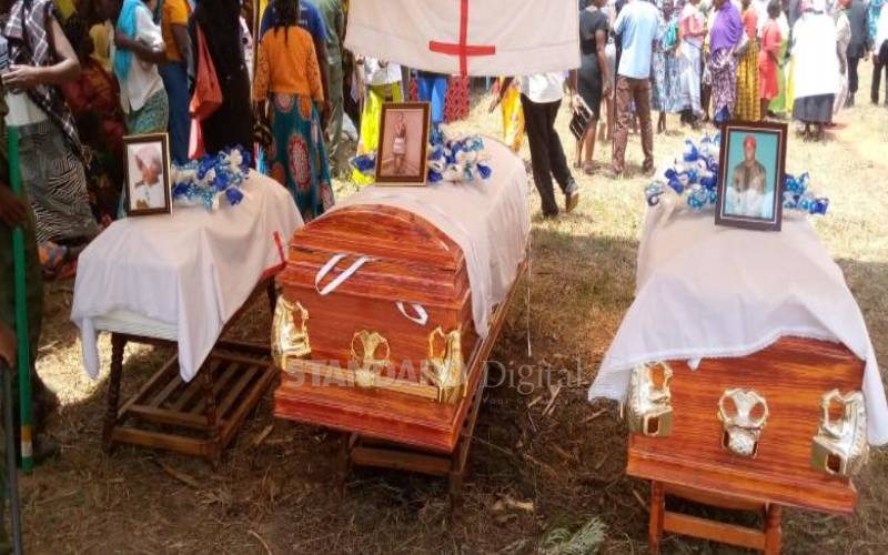 Father, mother and son buried in Mumias after house fire