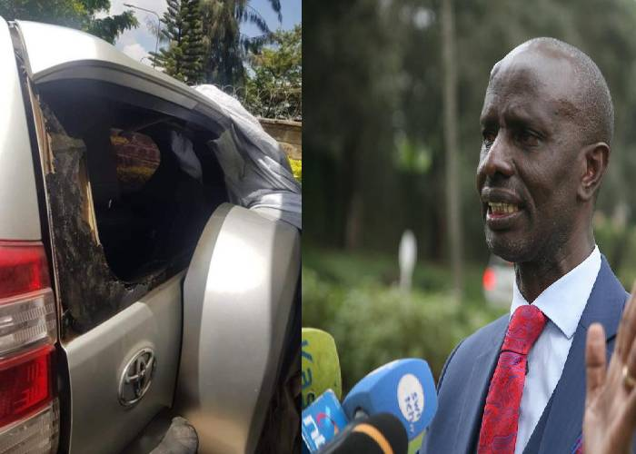 Sossion's vehicle stoned in Bomet Town