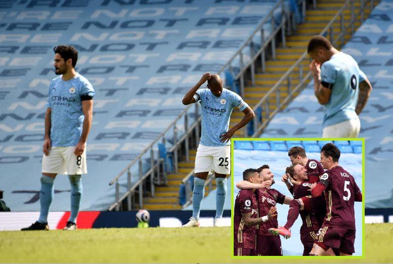 Ten-man Leeds snatch last-gasp win at Man City