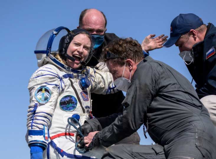 Three astronauts return safely to Earth from International Space Station