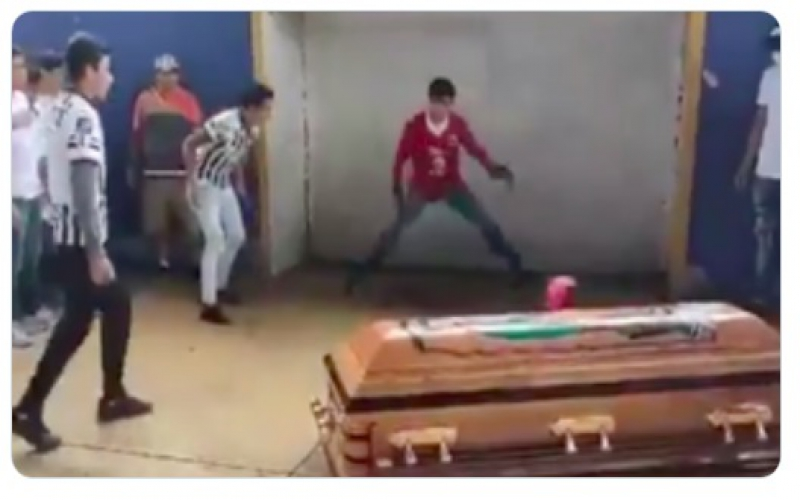Teammates help murdered Mexican teen score goal during moving funeral