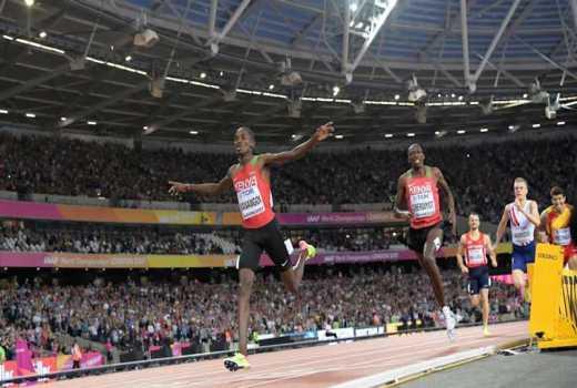 Manangoi, Cheruiyot wins gold and silver in 1500m final