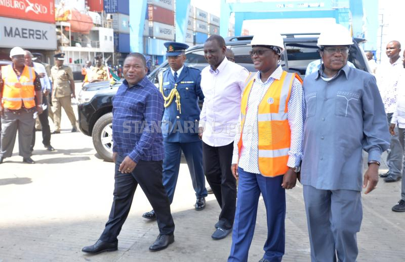 Mozambique President Filipe Nyusi hails efficiency at Mombasa port