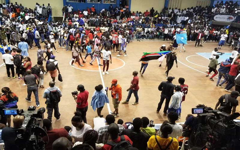Nyayo gymnasium's viability questioned after Kenya's match delayed due to crowd trouble [Photos]
