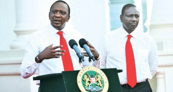 President Uhuru and  his Deputy William Ruto