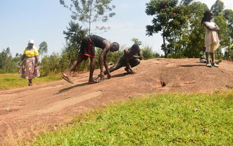 Vihiga's  'Jesus Christ footprints' could disappear before you say amen