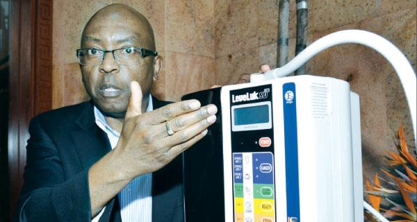 John Ngatia explains how Kangen water purifier works