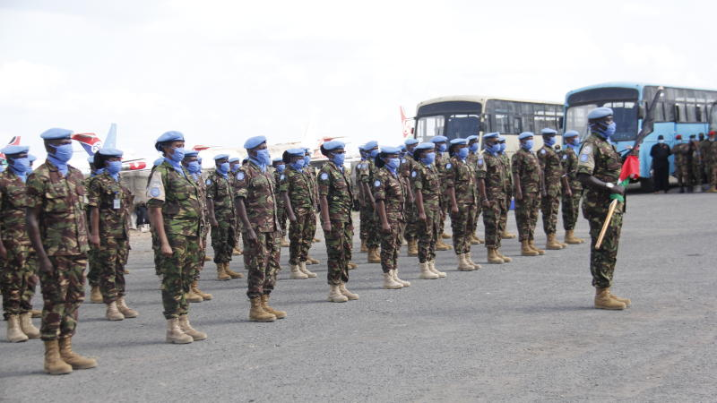 Kenyan troops back from South Sudan mission