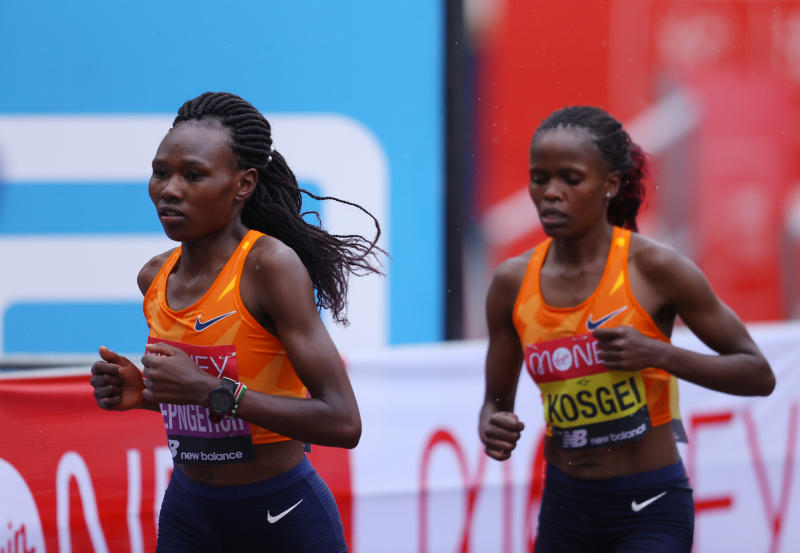 Kenya's Brigid Kosgei retains her London Marathon title