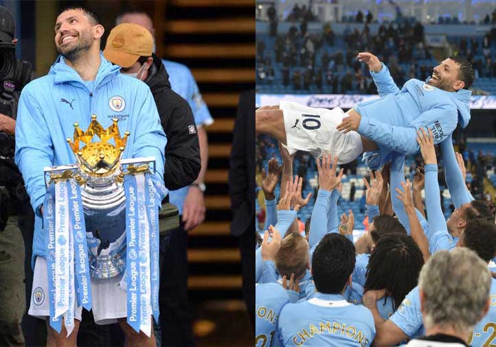 Aguero signs off in style as Man City celebrate title with 5-0 Everton rout