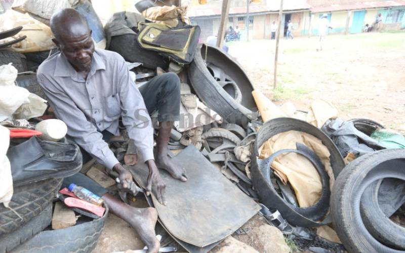 Akamba secondhand tyre dealers making a living from their value addition skills