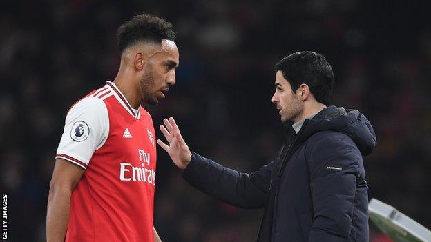 Arsenal manager Arteta sweating over Aubameyang fitness