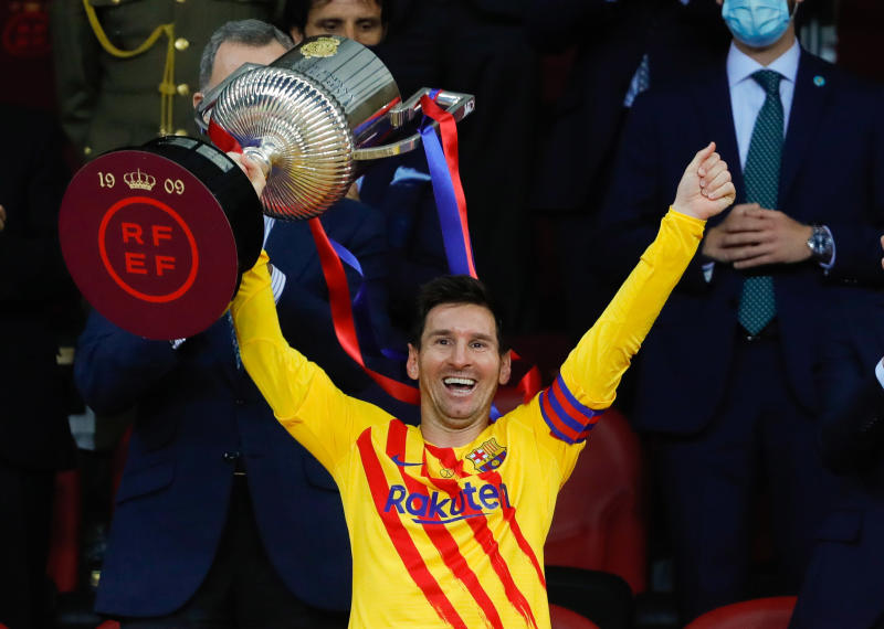 Barcelona president certain Messi will stay after leading Barca to Cup glory
