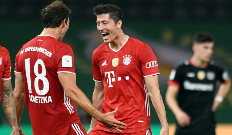 Bayern thrash Leverkusen 4-2 to win 20th German Cup title