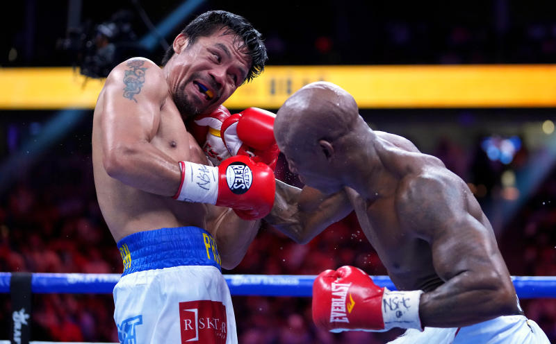 Cuban Yordenis Ugas shocks Manny Pacquiao to retain welterweight title