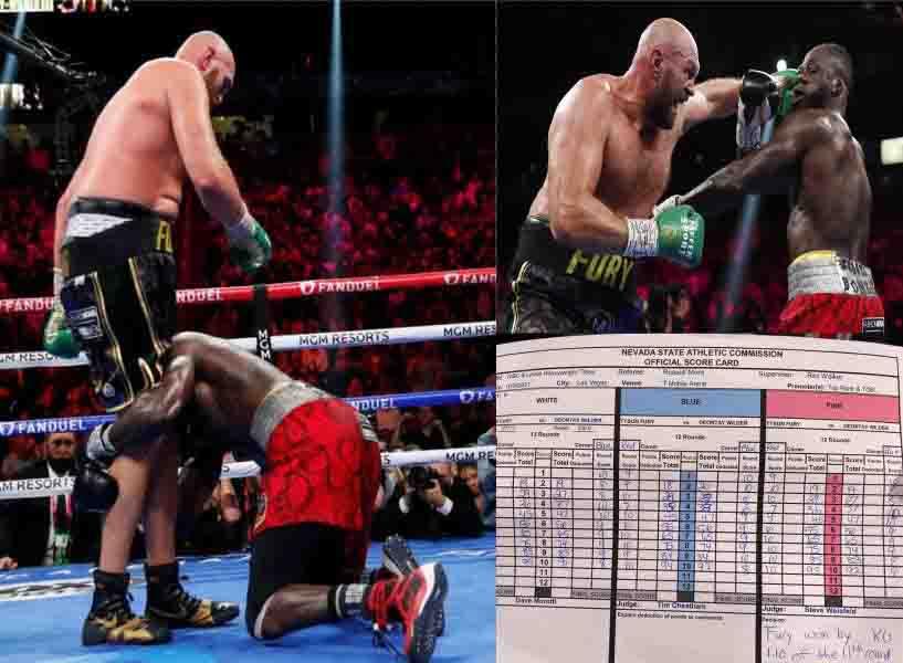 Deontay Wilder vs Tyson Fury scorecard revealed