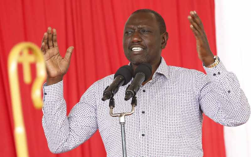 Don't threaten us with 'nobody can stop reggae', Ruto tells BBI proponents