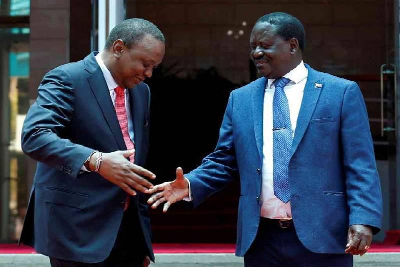 Uhuru, Raila's handshake impact on investor confidence, political stability  - The standard
