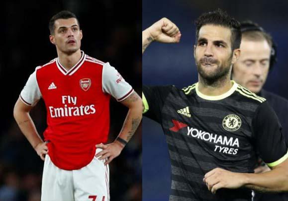 Fabregas names Xhaka among five 'top players' at Arsenal