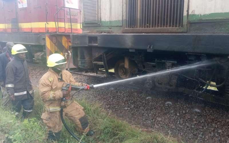 Fire on Nairobi bound train contained, Kenya Railways says