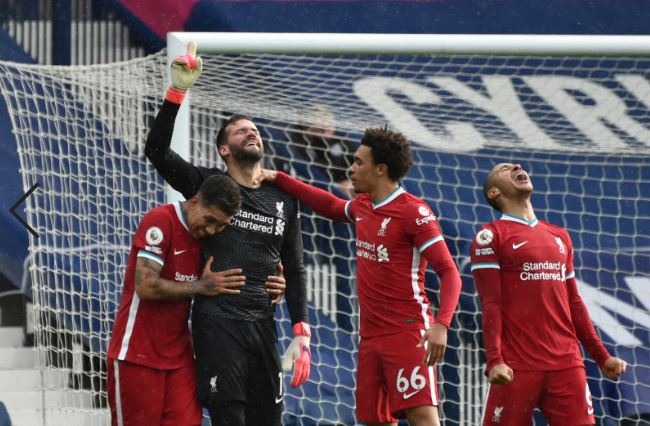 Goalkeeper Alisson heads Liverpool closer to Champions League