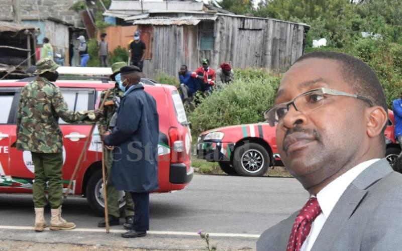 Governor Mwangi wa  Iria campaign team blocked by police