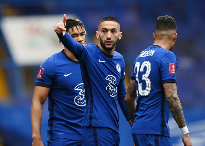 Hakim Ziyech scores again as Chelsea advance to FA Cup semis