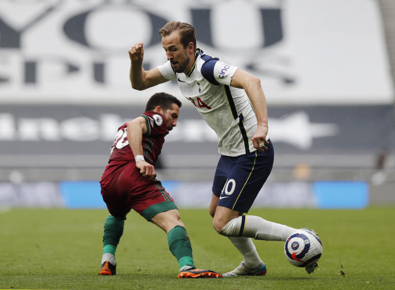 Kane helps tame Wolves and boost Spurs' European chances