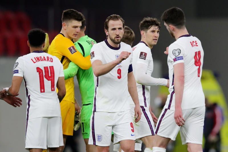 Kane leads England to 2-0 win in Albania