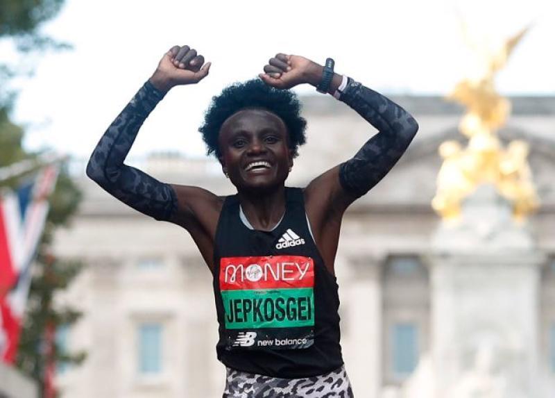 Jepkosgei wins London Marathon