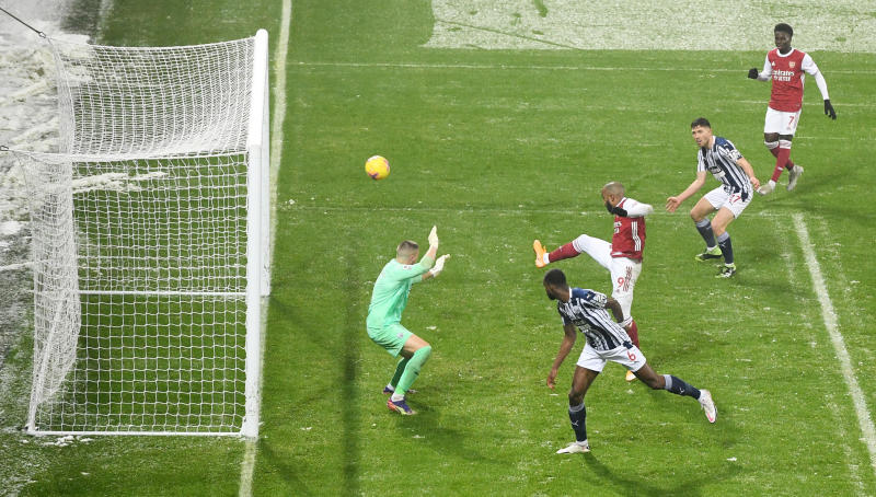 Lacazette scores brace as Arsenal demolish woeful West Brom