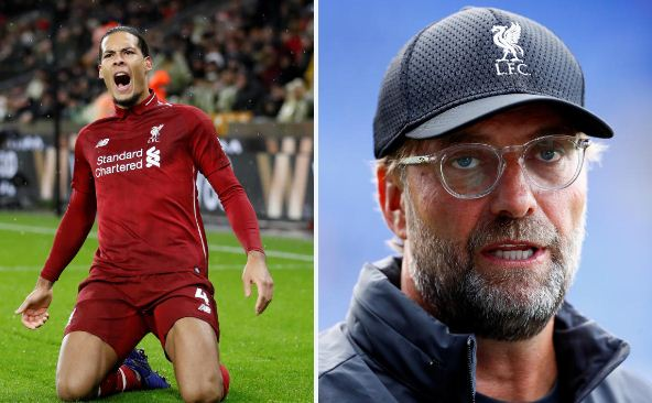 Liverpool's Klopp says Van Dijk cannot be rushed back from injury