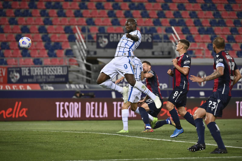 Lukaku fires Inter eight points clear with Bologna win