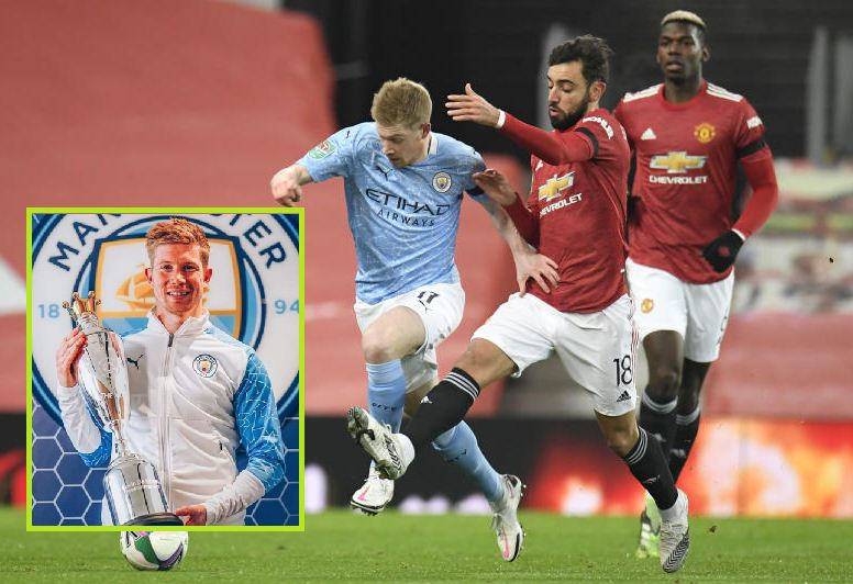 Man City's De Bruyne is Professional Footballers' Association Player of Year for second time