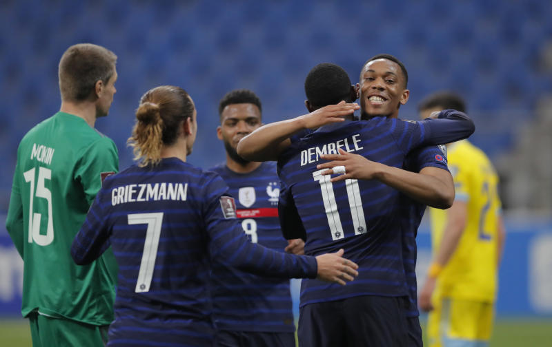 Mbappe misses penalty as Dembele inspires France to crucial win