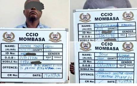 Mombasa detectives nab suspects in car theft ring