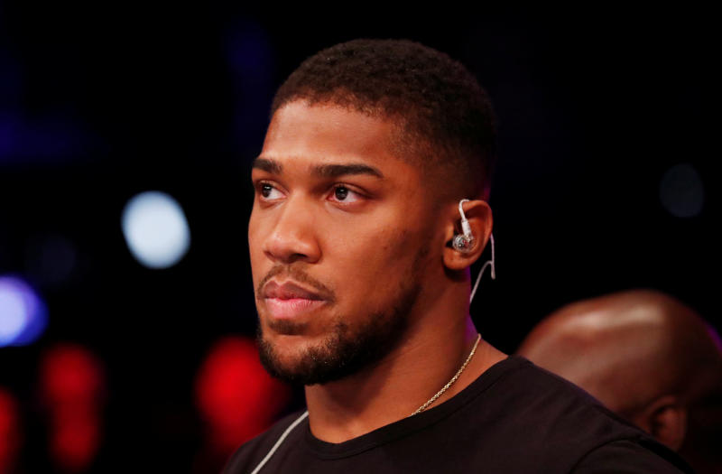 Anthony Joshua joins anti-racism protest