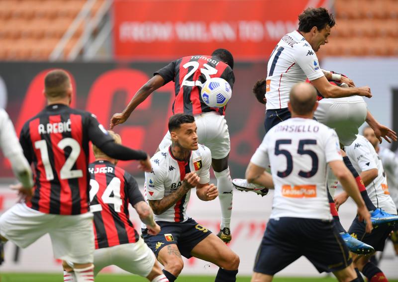 Nervy Milan return to winning ways against Genoa
